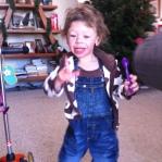 Rowan ready for storytime